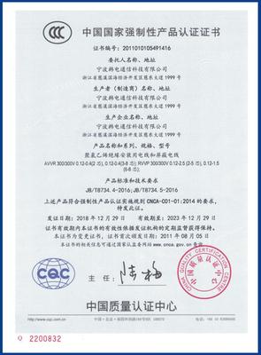 CCC认证(AVVR RVVP)