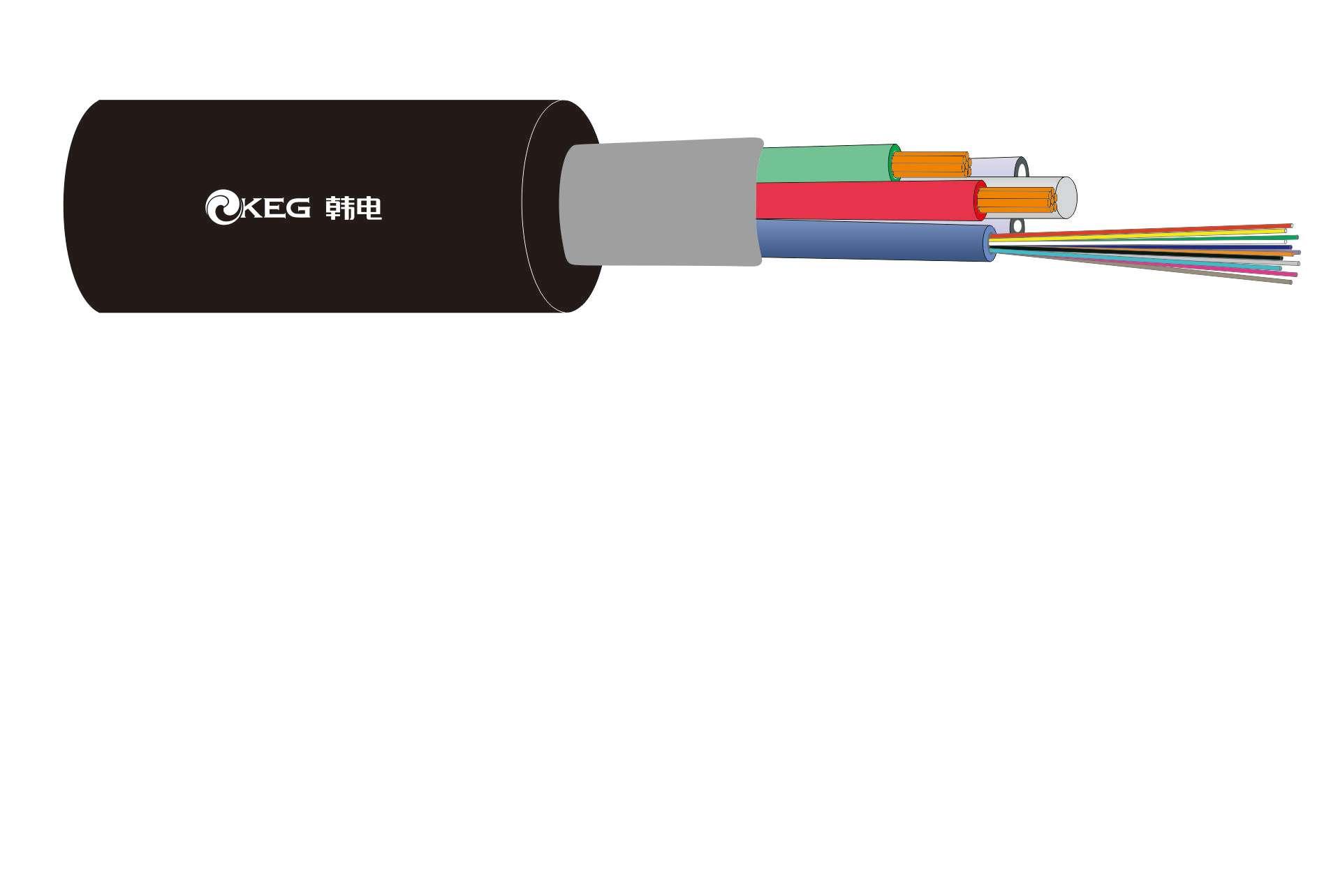 KEG.DTA系列 松套层绞式非铠装光电混合缆(GDTA)