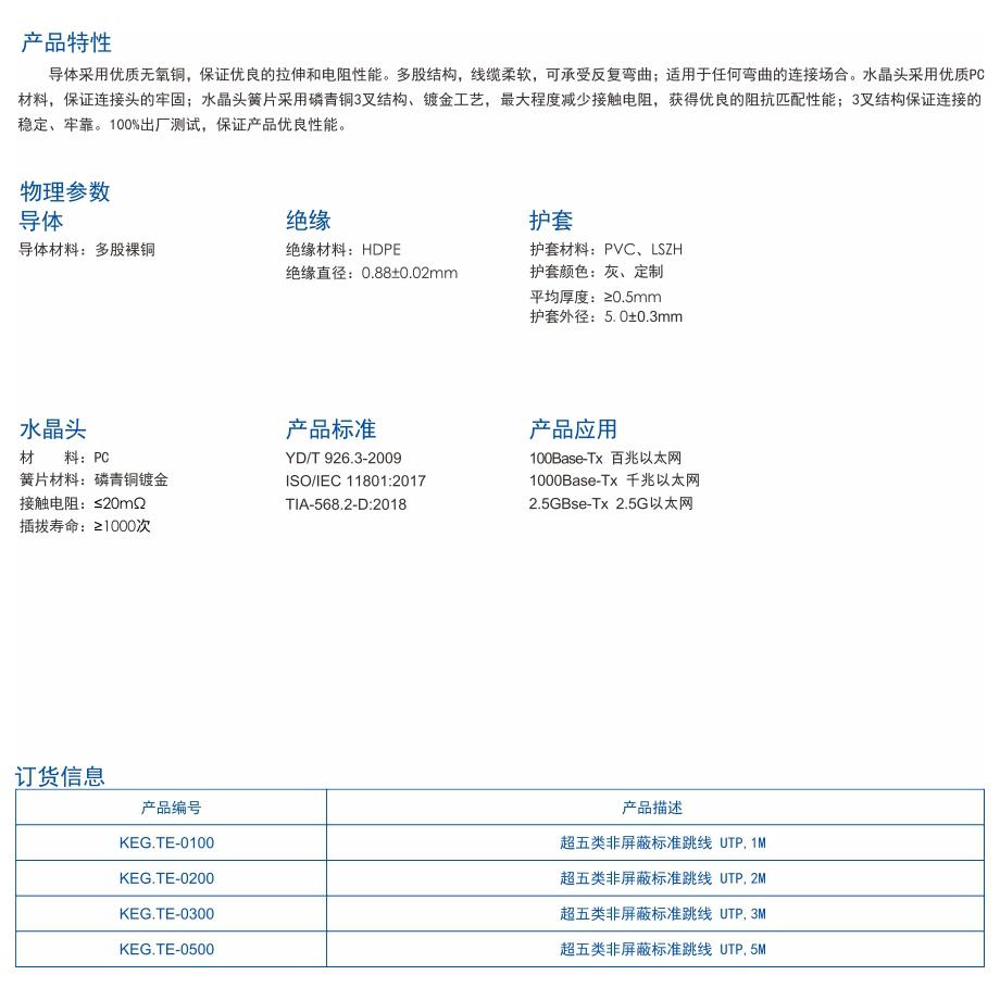 1-KEG.TE系列   超五类非屏蔽网络跳线.jpg